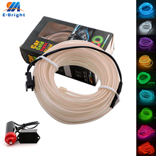 2 Sets 12V/24V 1M/2M/3M/5M Wire Neon Flexible Decorative Light Cold light Auto Car Home Pary Atmosphere Bulbs Lights Interior