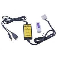 Adaptador USB para coche, interfaz de Audio MP3, SD AUX, Cable de datos USB, Conector de CD Virtual cambiador para Mazda 3 6 CX7