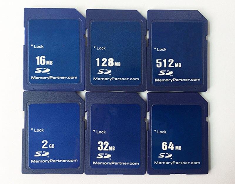 Tarjeta SD 16MB 32MB 64MB 128MB 256MB 512 MB 1GB SD de 2GB Tarjeta de memoria Secure Digital Tarjeta carta envío gratis