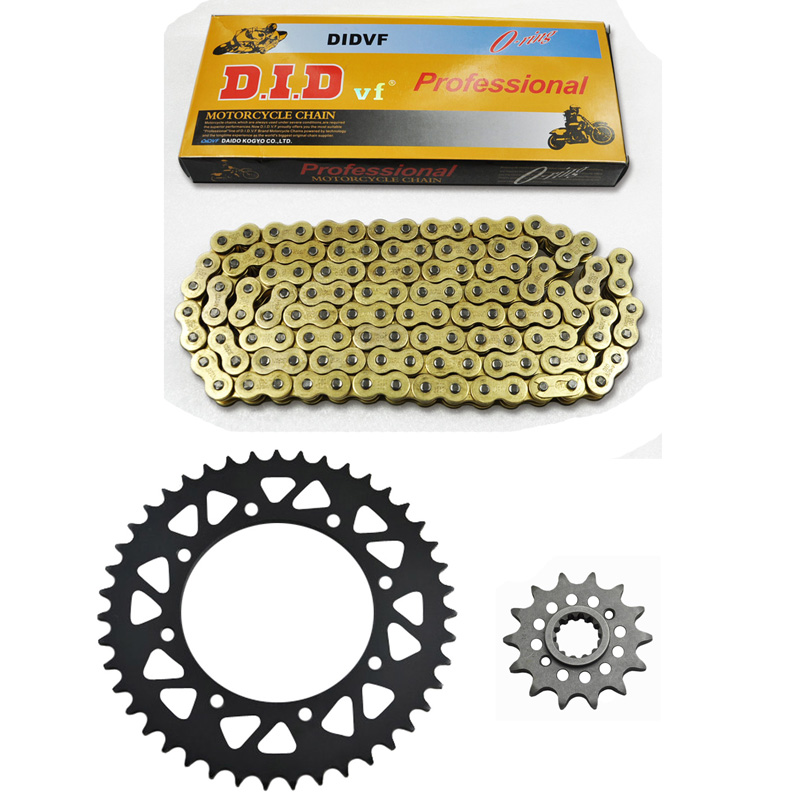NEW PACKING MOTORCYCLE 520 CHAIN Front & Rear SPROCKET Kit Set FOR Kawasaki Road KLR500,KLR650 (KL650A1-A3,B1)Tengai 1 set motorcycle front