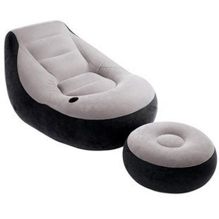 intex air chair ergonomic kneeling benefits ultra lounge inflatable sofa pillow ottoman manual pumps lazy beanbag