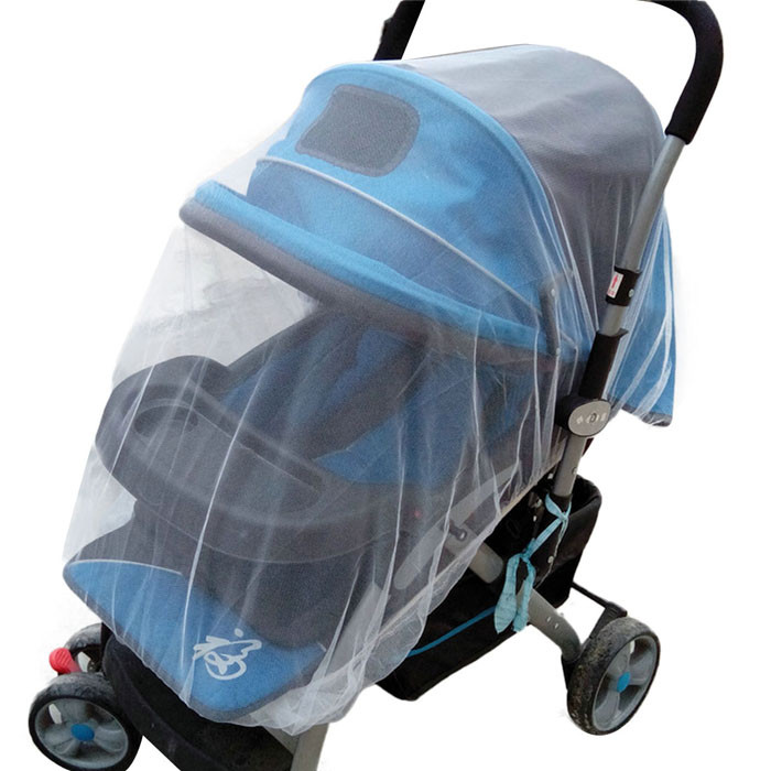 Carriage Cover White Infants Baby Girl Boy Stroller Pushchair Mosquito Insect Net Safe Mesh Buggy Crib Netting Cart Mosquito Net Nibbler