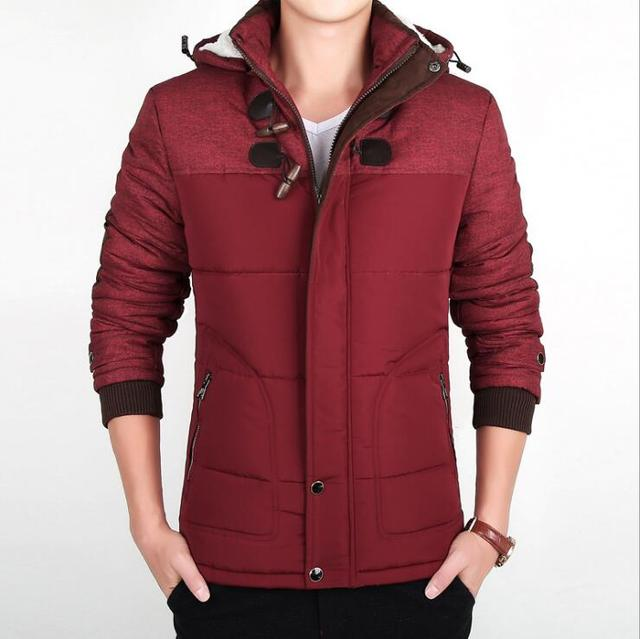 4160d0a98e0 2017 New Winter Cotton Jacket Large Size Cold Warm Outwear Coats Parkas  Male Casual Patchwork Removable Hooded Windproof Clothes