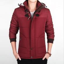 2017 New Winter Cotton Jacket Large Size Cold Warm Outwear Coats Parkas Male Casual Patchwork Removable Hooded Windproof Clothes