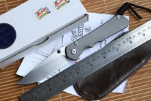 IDAHO MADE Chris Reeve Large Sebenza 25 folding knife S35vn TC4 Titanium handle paring kitchen camping hunting knife EDC tool