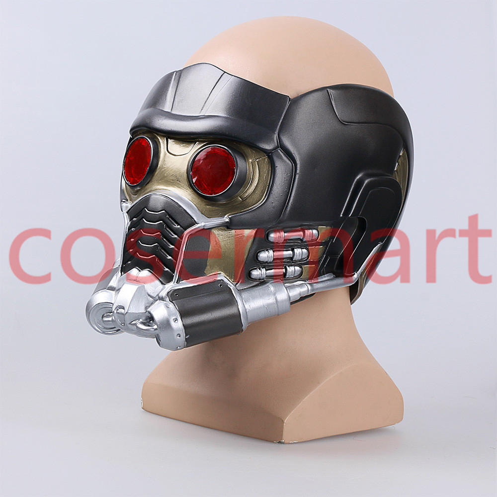 Cos Guardians of the Galaxy Helmet Cosplay Peter Quill Helmet PVC with Led Light Star Lord Helmet Halloween Party Mask Adults (4)