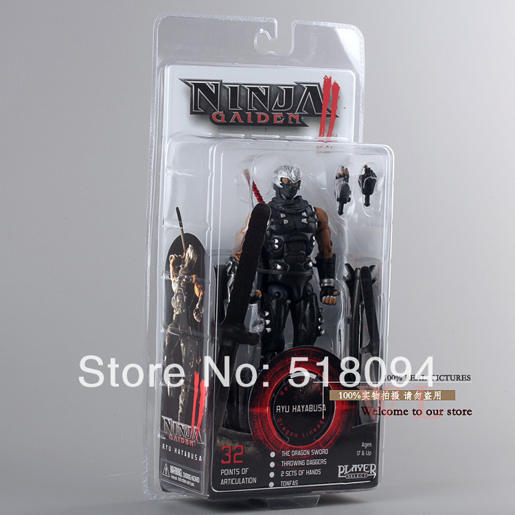 Free Shipping Ninja Gaiden II Ryu Hayabusa Neca Player Select Action Figure New in Box 7 18cmFree Shipping Ninja Gaiden II Ryu Hayabusa Neca Player Select Action Figure New in Box 7 18cm