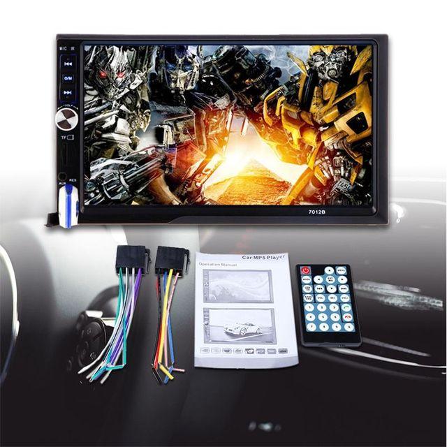 7012B 7 pouces Bluetooth V2.0 voiture Audio stéréo écran tactile MP5 lecteur Support MMC