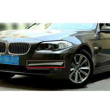 Car Styling!2pcs Stainless Steel Front Head Fog Light Lamp Cover Trims For BMW 5 Series GT F07 2011-2013
