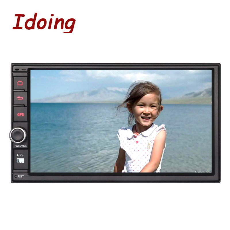 Idoing 2GB RAM Steering Wheel 7 Universal 2Din Android 6.0 Car DVD Multimedia Player GPS Built in 3G Dangle1024*600 Radio wifi