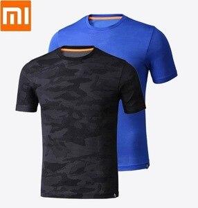 Image 1 - Xiaomi youpin erkek Tek parça dokuma Kısa kollu gömlek Nem emme Hızlı kuruyan Spor yaz elbisesi adam