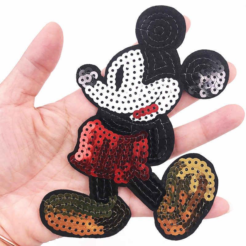 Novo Mouse 5 pçs/lote roupa Pai-Filho lantejoulas patch Ferro em patches para roupas Diy Camisa Jaqueta Polo Cap calças de brim