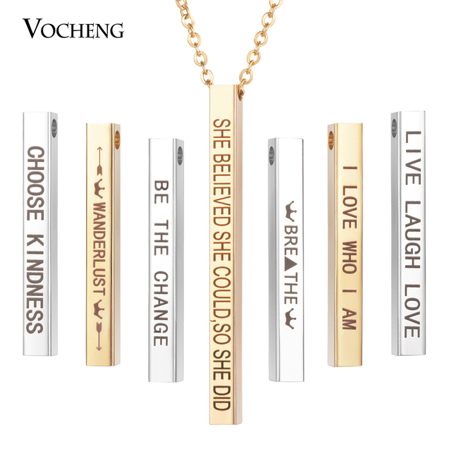 Bar Quote Necklace  dainty necklace