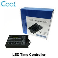 DC12 24V 20A 5 Channel Output Computer Programmable Led Time Controller TC420 Assemble With USB Cable