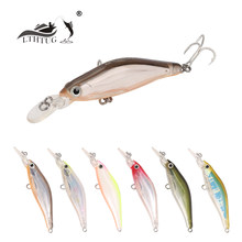 Trulinoya Hard Bait Lure Minnow 65mm 6g Water Sinking Wobbler Multicolor Pesca Artificial Bait With BBK Hook DW41 T30(China)