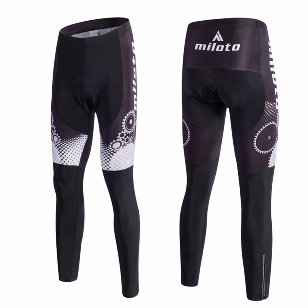 Compression Men Cycling Pants Gel Padded Spandex 2018 Pro Cycling Tights Reflective Team Cycling Trousers Coolmax