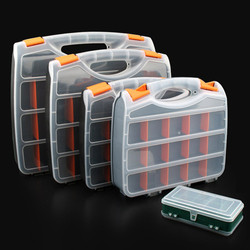 Caixa de peças caixa de armazenamento do parafuso de metal portátil peças de hardware chave de fenda mão ferramenta de reparo do veículo