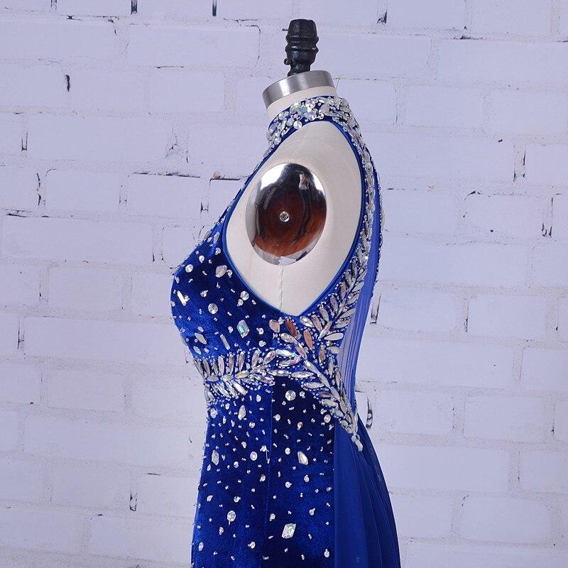 Сәнді аяқ киім кешкі көйлек 2019 Royal Blue - Ерекше жағдай киімдері - фото 4