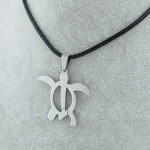 Longevity Tortoise Pendants & Necklaces Rope Chain men women Kids,Animal Stainless Steel Jewelry Turtle Metal Silver