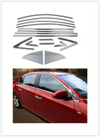 1 Set Car Covers For Chevrolet CRUZE 2009 2015 Car Full Window Trim Cover Sticker Chromium Styling Decoration DHL freeshipping.