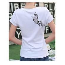 FEKEHA Summer Casual White Tshirt For Women