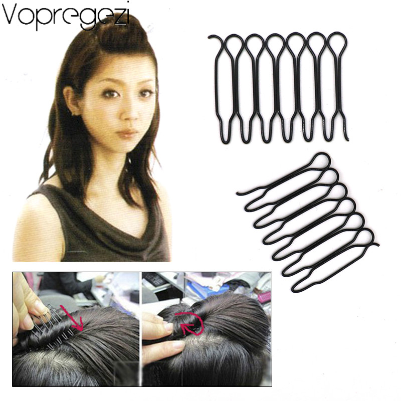Vopregezi 2pcs Invisible Hair Clips for Women Hair Accessories Headdress Barrette Black Hairpins Headwear Styling Tool Hairstyle