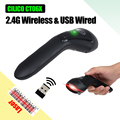Free Shipping!CILICO CT06X Wireless Barcode Scanner bar Code Reader 2.4G 10m Laser Barcode Scanner Wireless/Wired For Windows CE
