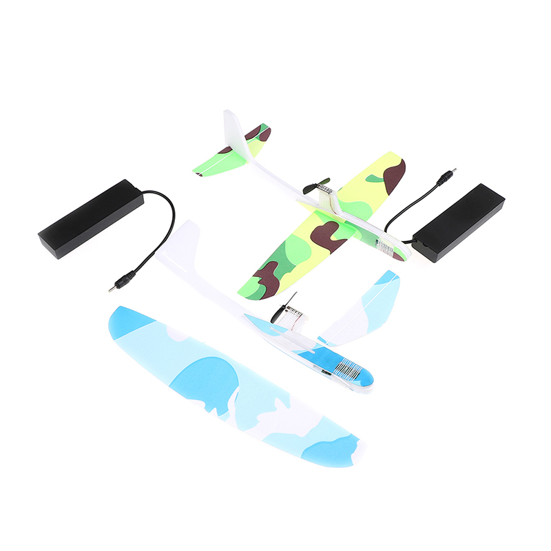 Fashion New Hot Foam EVA Capacitor Electric Airplanes Hand Throwing Glider Aircraft Inertial Model Airplane Outdoor Toy image