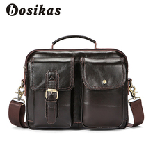 hot deal buy bosikas men briefcases genuine leather men's bags crossbody bags casual totes laptop messenger bag men's shoulder bag handbags