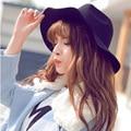 Зимняя мода женский открытый зонтик шляпа чистой шерсти шляпу