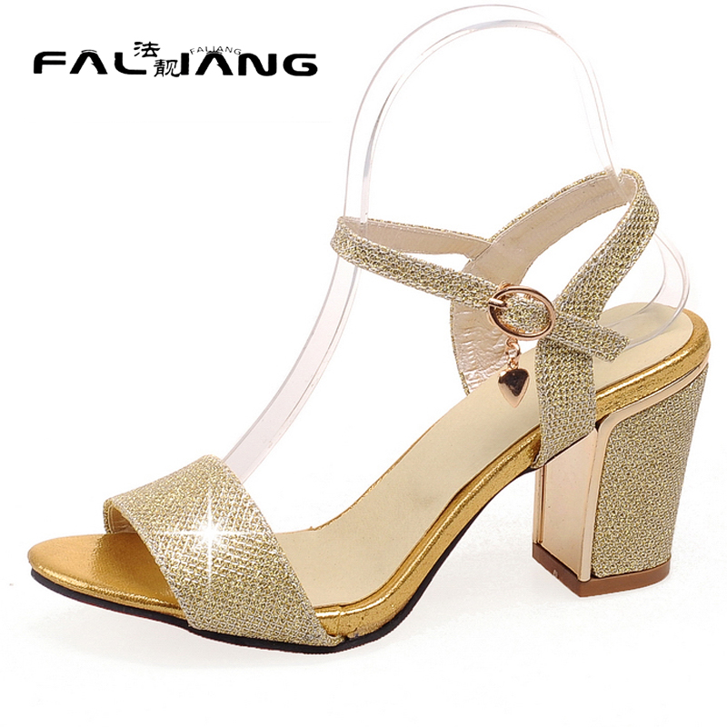 ФОТО New summer arrival  plus size 11 12 13 Fashion Buckle Bling womens sexy Peep Toe shoes High Heels summer sandals ladies sandals