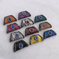Mix color bang shape pendant real snakeskin pendant beads with natural multi kind bead New style druzy pendant 764