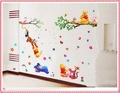 three-piece package childrens wall stickers  happy bear wall stickers winnie the pooh  kids room wall decorations hot selling