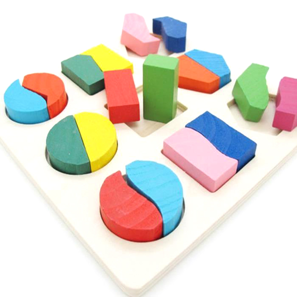 Colorful Wooden Game Puzzle Game Brain Puzzle Toys Preschool Imagination Educational Toy Baby Toddler Toys Puzzle Math