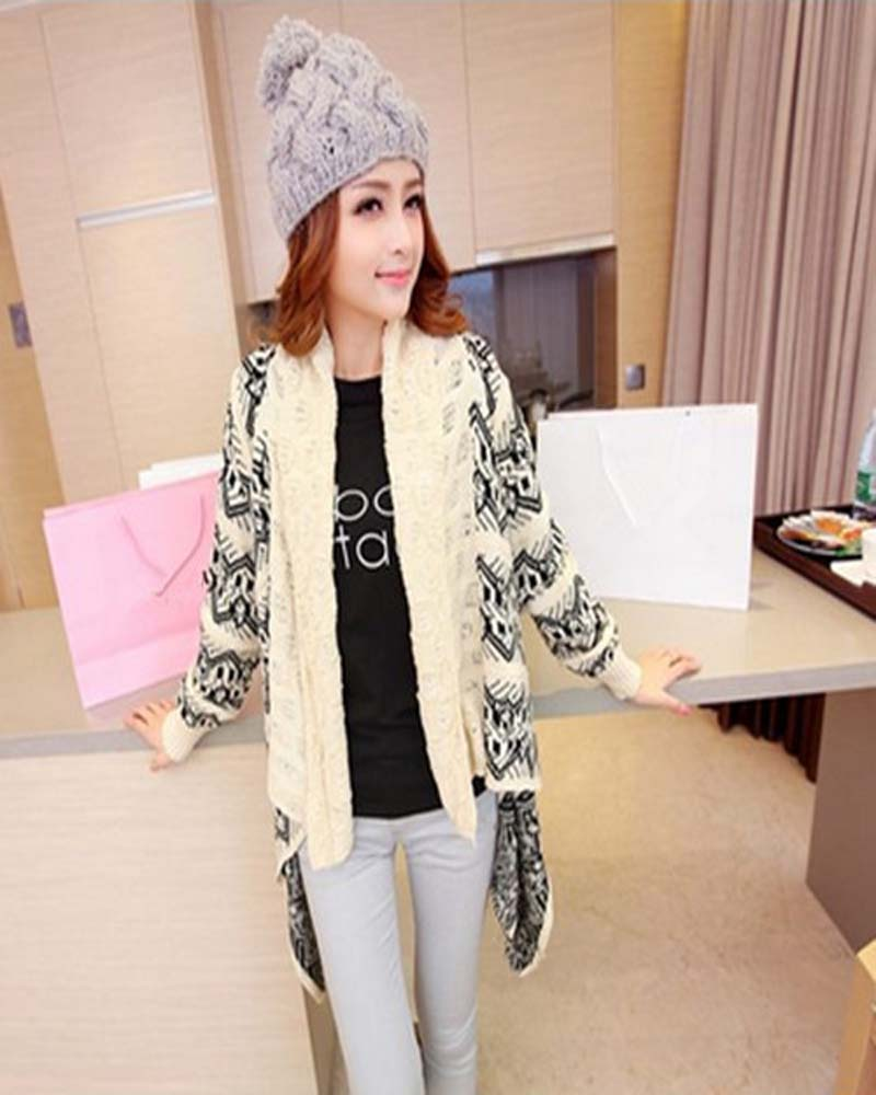 New fall and winter clothes hot sale cardigan knitting needle ...
