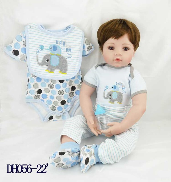 19304b03d88b9a High recommended 55cm silicone vinyl reborn baby dolls accompany lifelike  toddler doll kid christmas new year boutique gifts