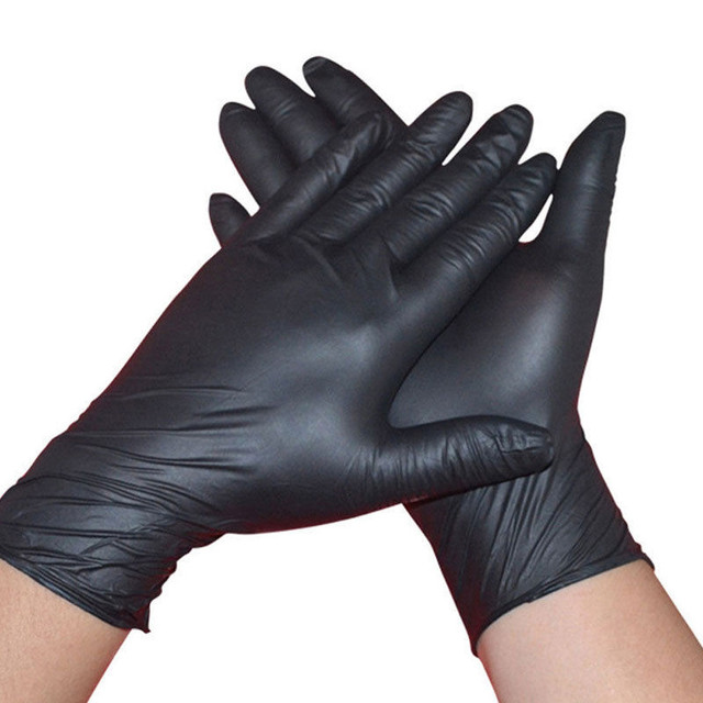5af76135dc9 US $1.19 46% OFF|New 10Pcs Black Comfortable Rubber Disposable Mechanic  Nitrile Gloves L/M/S O10 OC4-in Men's Gloves from Apparel Accessories on ...