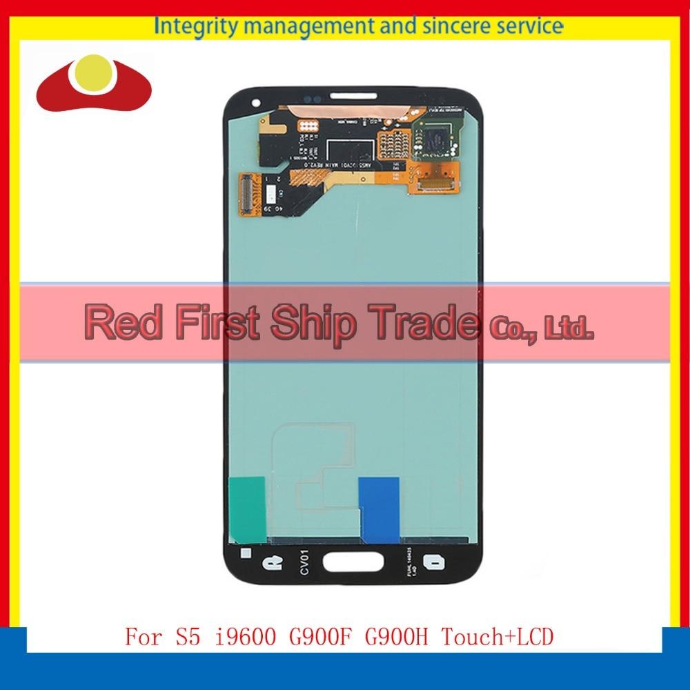 For Samsung Galaxy S5 i9600 SM-G900 SM-G900F G900 G900R G900F Full Lcd Display Touch Screen Digitizer Sensor Assembly Complete аксессуар аккумулятор samsung sm g900f galaxy s5 2800 mah eb bg900bbegru