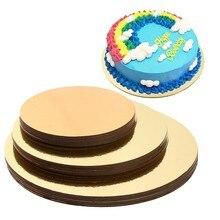 18 יח\סט 6 ,8 ,10 סנטימטרים 6 של כל גודל עוגת לוחות עגול עוגת Stand מחצלת עוגת מעגל בסיסי אפיית מחצלת עגול עוגת כלים