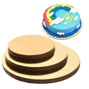 Image 1 - 18pcs/set 6 ,8 ,10 Inches 6 Of Each Size Cake Boards Round Cake Stand Mat Cake Circle Bases Baking Mat Round Cake Tools