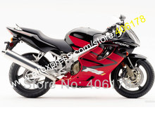 Hot Sales,For Honda Fairing CBR600 2004 2005 2006 2007 CBR 600 04 05 06 07 F4i Red black motor Fairing (Injection molding)