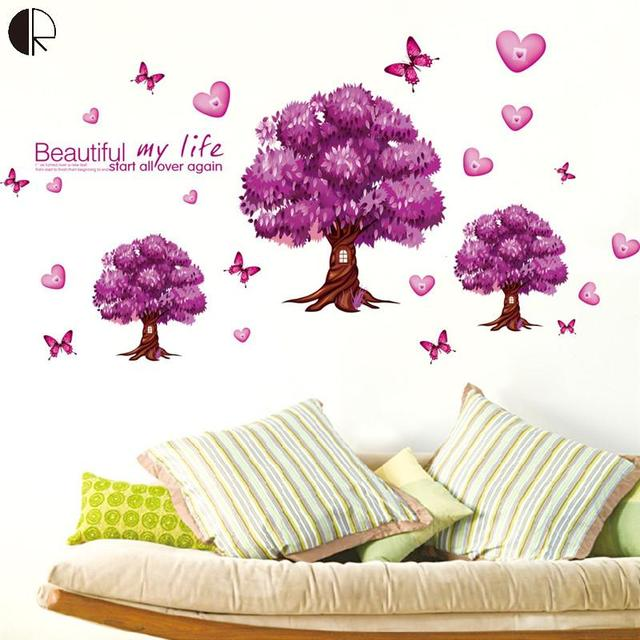 Lovely Beauty My Life DIY Love Home Decor Tree Wall Stickers Vinyl Walls Decoration  Posters On The
