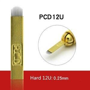 Image 3 - 100 pcs PCD Hard 12/14/12u/14u/18u Permanent Makeup Eyebrow Tatoo Blade Microblading Needles For 3D Embroidery Manual Tattoo Pen