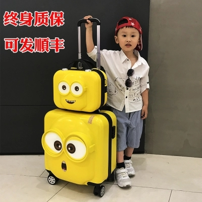 CARRYLOVE Cartoon Minions 18 20inch PC Handbag and Rolling Luggage Child specific Travel Suitcase