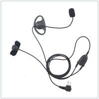 M Plug D Ring Pilot/ Motorcyle Handsfree with finger PTT for Motorola CP200 CT450 P040 GP68,Hytera TC 500, PX 508,Kirisun S780