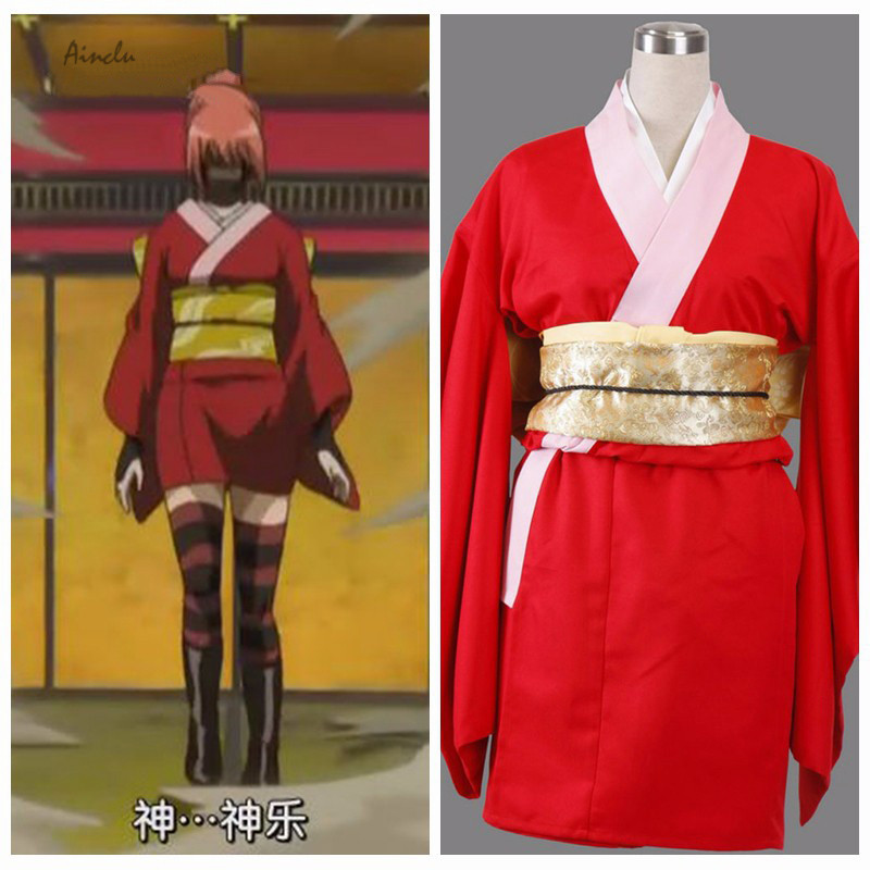 Ainclu Hot Selling Anime Free Shipping Gintama Anime kagura 6th Halloween Costume Customize for plus size adults and kids