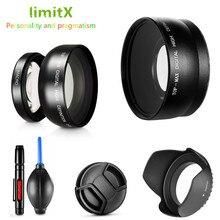 0.45X Süper Geniş Açı Lens Makro ve Lens hood kiti Sony DSC HX350 DSC HX300 DSC H400 HX350 HX300 H400