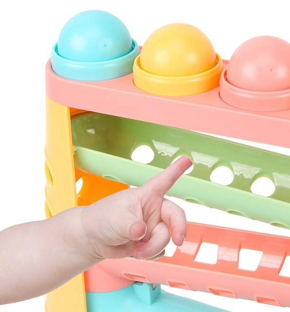 Beiens Baby Beat Toys Sound Knocks Beat Balls Baby Early Educational Math Toy Colorful Hammering Ball