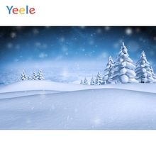 Yeele Winter Landscape Mount Tree Snow Room Decor Photography Backdrops Personalized Photographic Backgrounds For Photo Studio