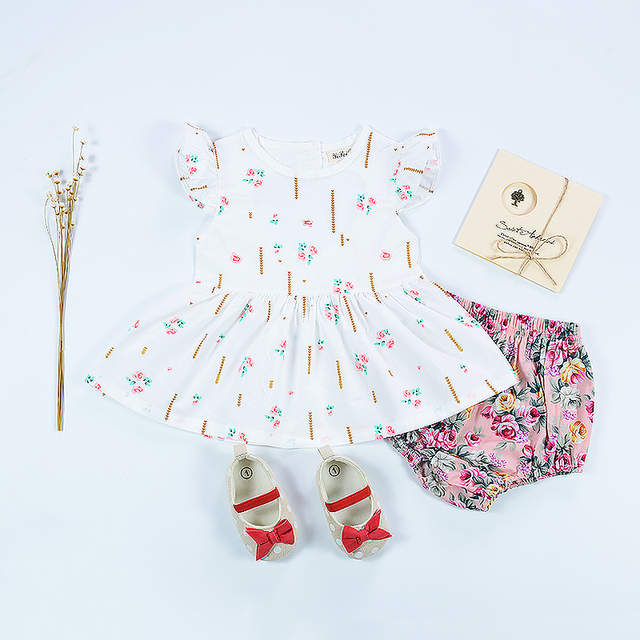 c1ba88e589a9f US $7.34 46% OFF|Summer fashion New Born Baby Dress Cute printing Baby  girls clothes For girls Kids Infant Clothes Baby Girls clothes-in Dresses  from ...